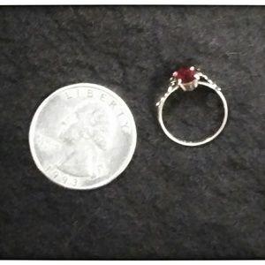 Vintage Jewelry - RARE Vintage Real Garnet Sterling 925